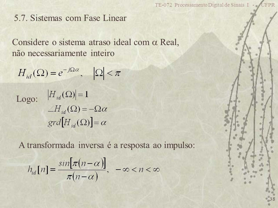 5.7. Sistemas com Fase Linear