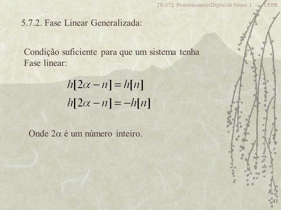 5.7.2. Fase Linear Generalizada: