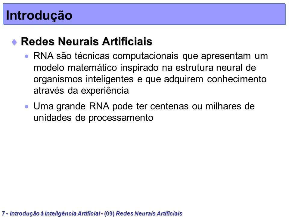 Introdução Redes Neurais Artificiais