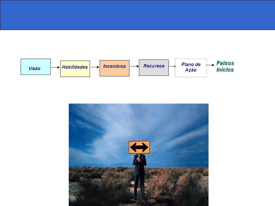Falsos Inícios Habilidades Incentivos Recursos Plano de Ação Visão