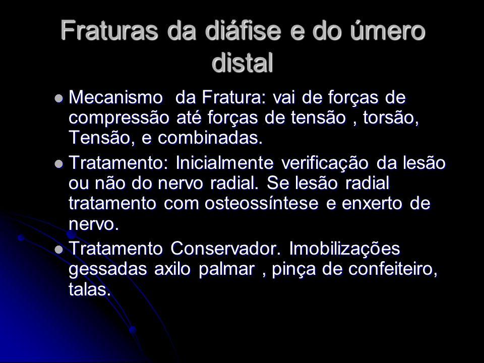Fraturas da diáfise e do úmero distal
