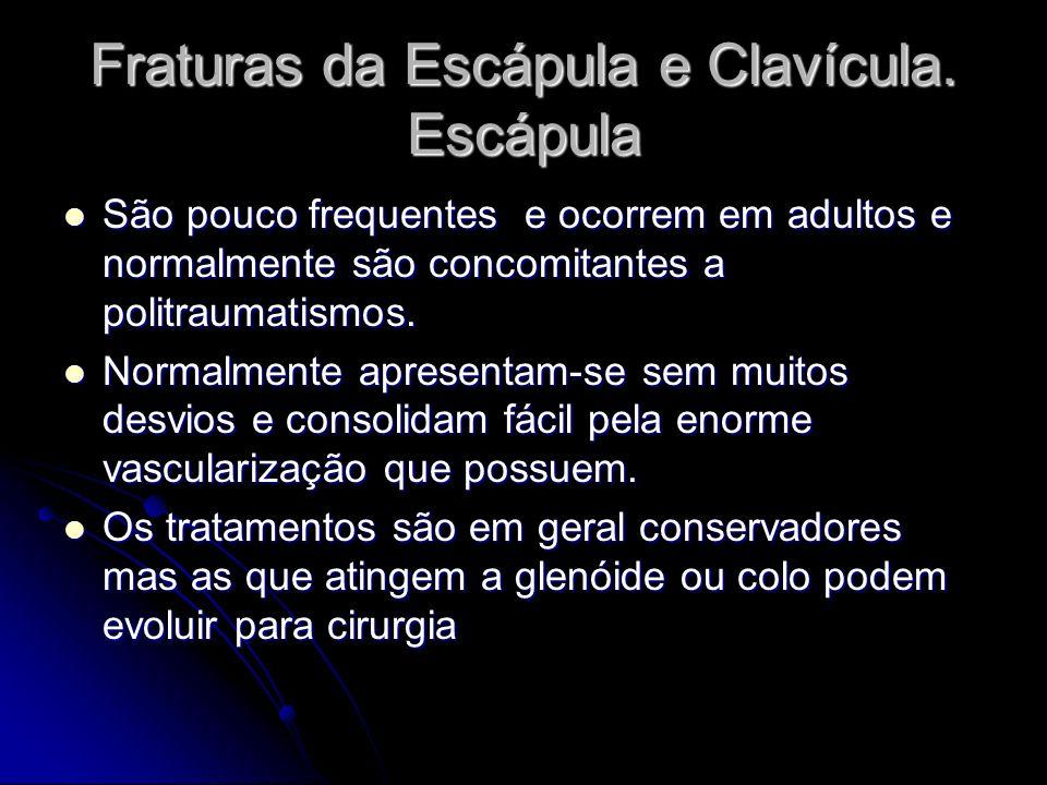 Fraturas da Escápula e Clavícula. Escápula