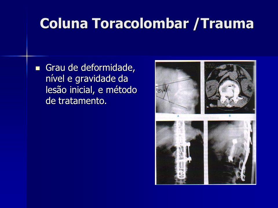 Coluna Toracolombar /Trauma
