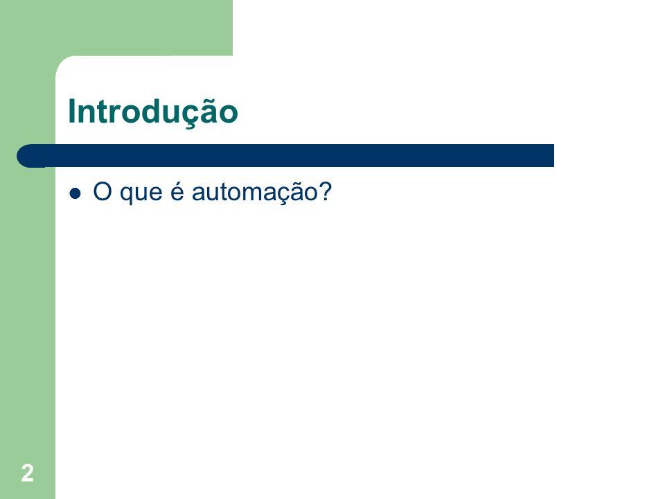 Introdução O que é automação