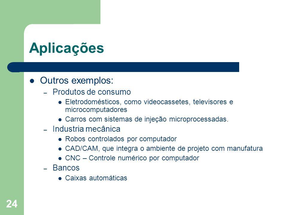 Aplicações Outros exemplos: Produtos de consumo Industria mecânica