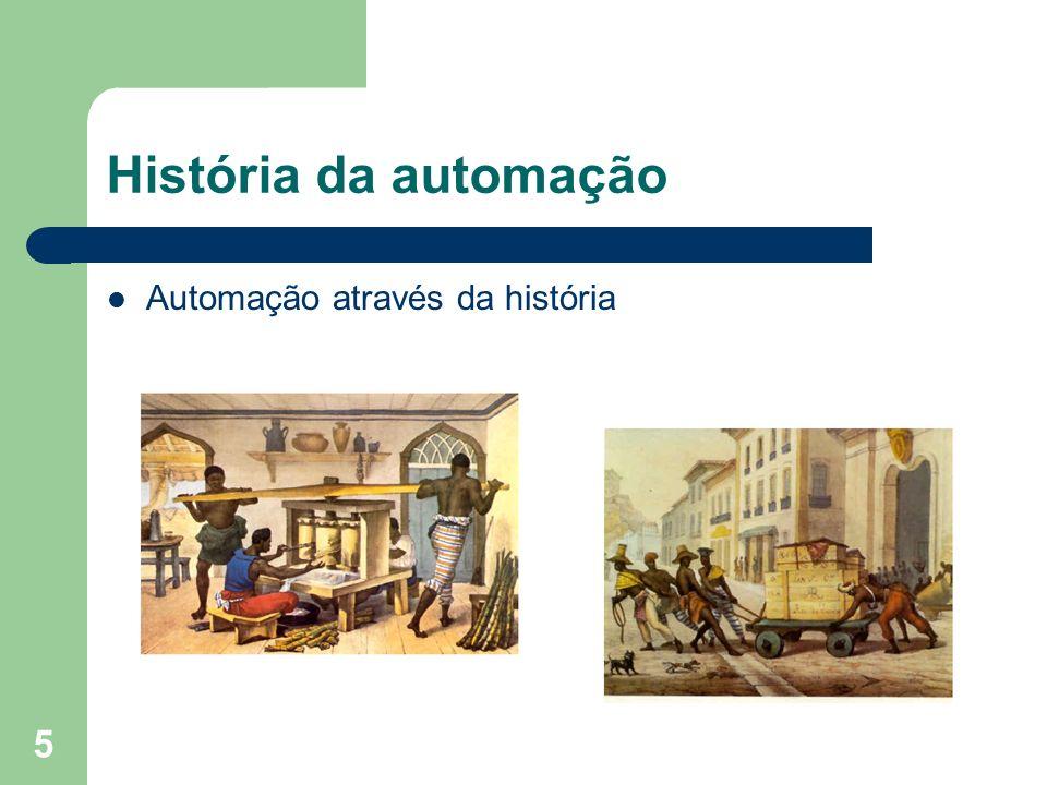 História da automação Automação através da história