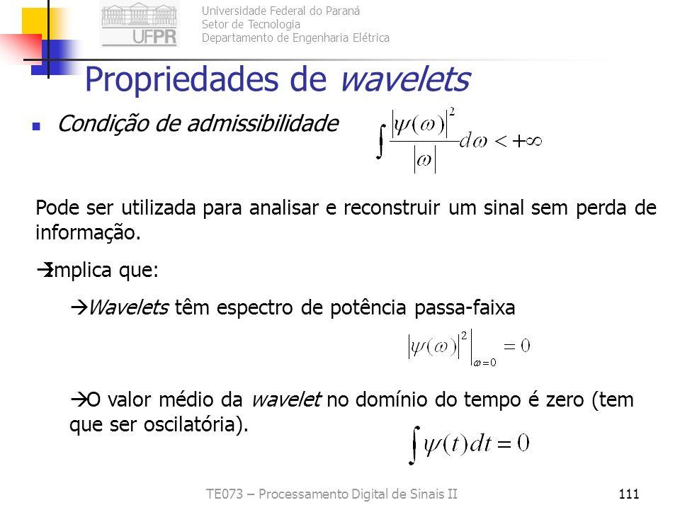 Propriedades de wavelets