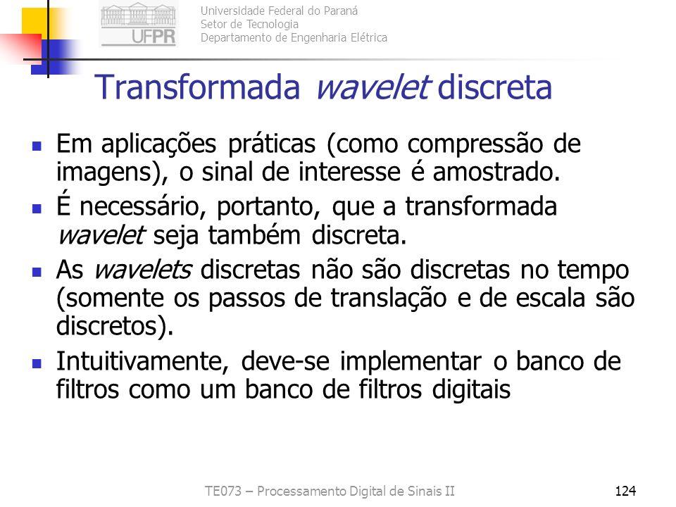 Transformada wavelet discreta