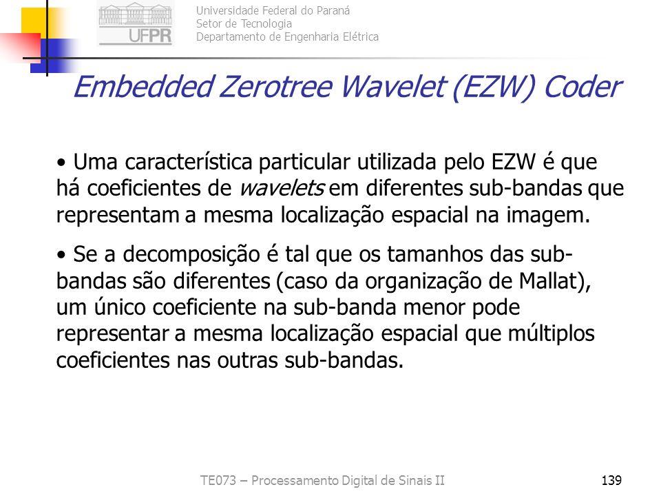 Embedded Zerotree Wavelet (EZW) Coder