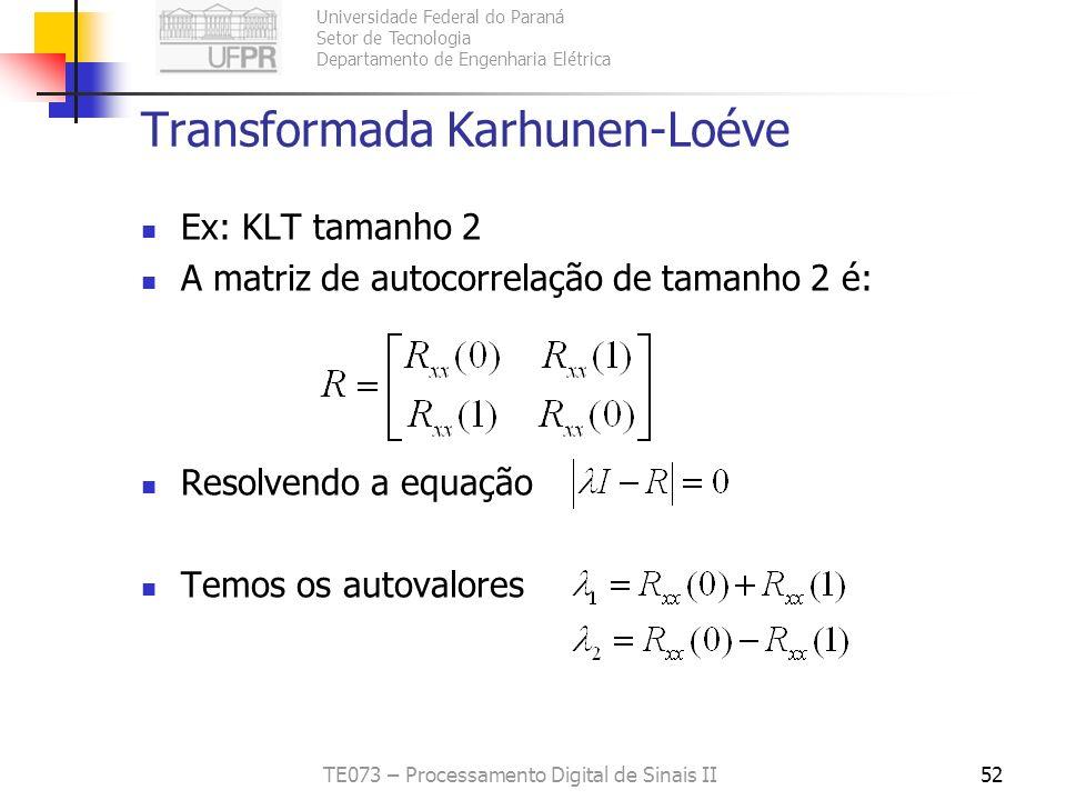 Transformada Karhunen-Loéve