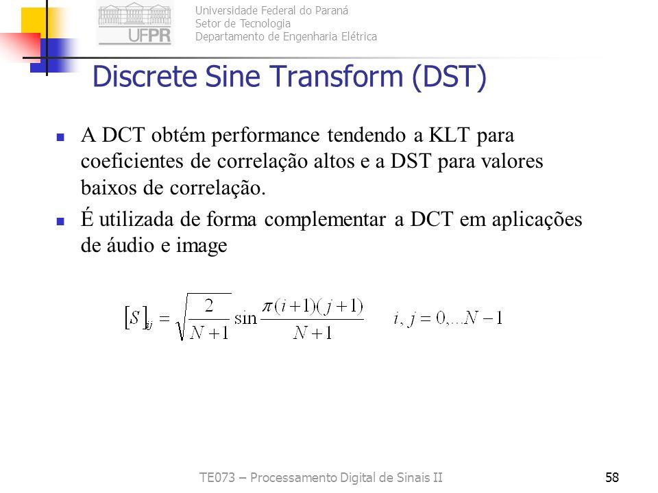 Discrete Sine Transform (DST)