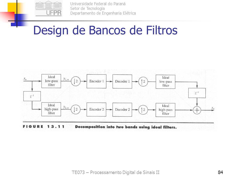 Design de Bancos de Filtros
