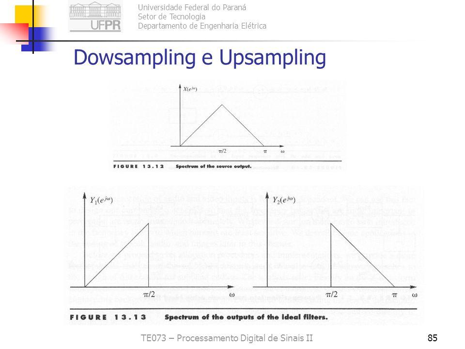 Dowsampling e Upsampling