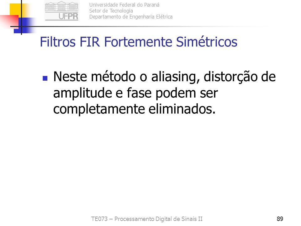 Filtros FIR Fortemente Simétricos