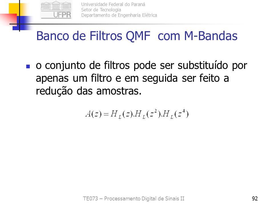 Banco de Filtros QMF com M-Bandas