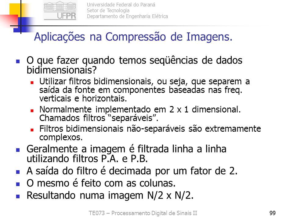 Aplicações na Compressão de Imagens.
