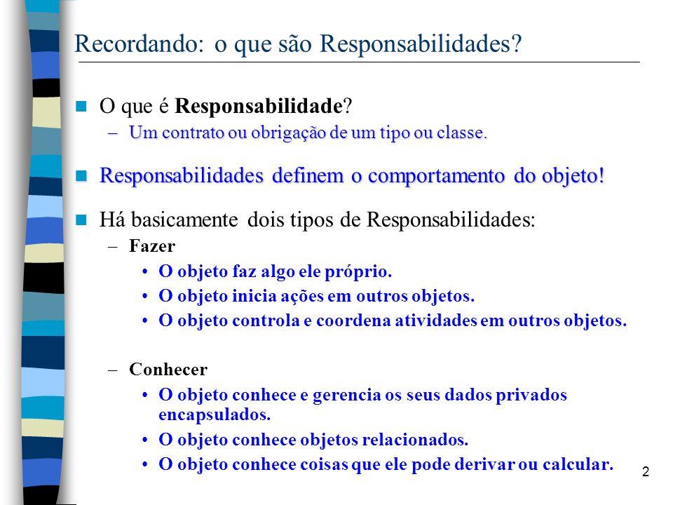 Recordando: o que são Responsabilidades