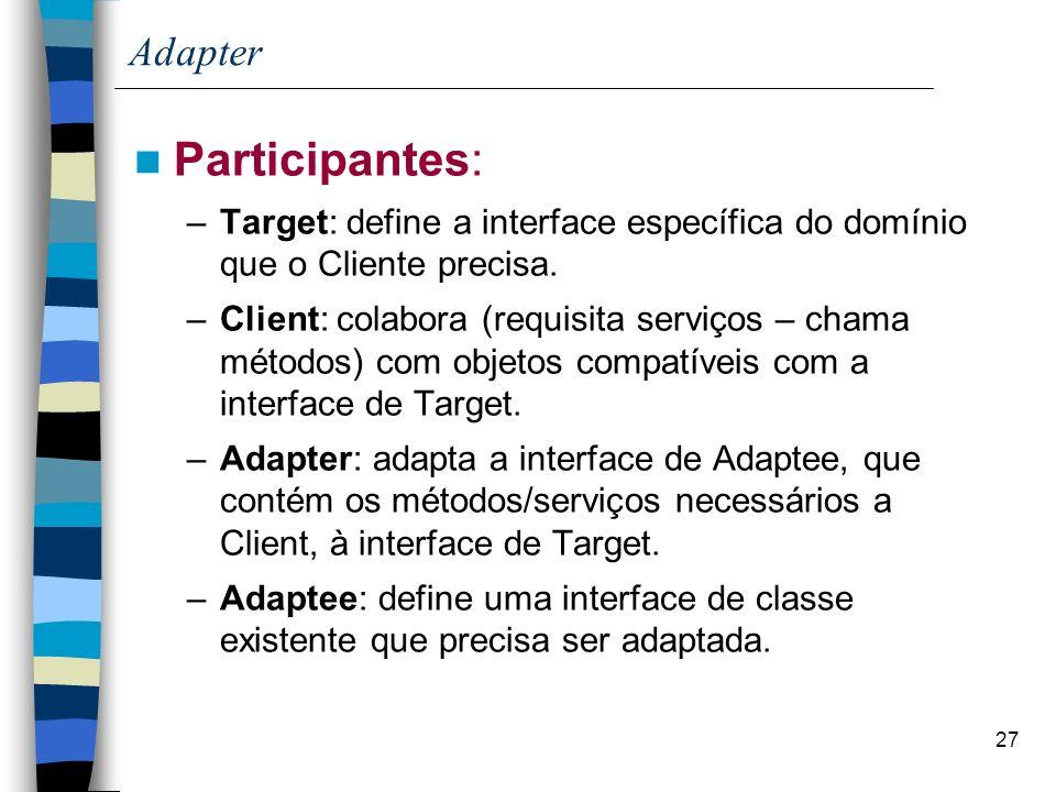Participantes: Adapter