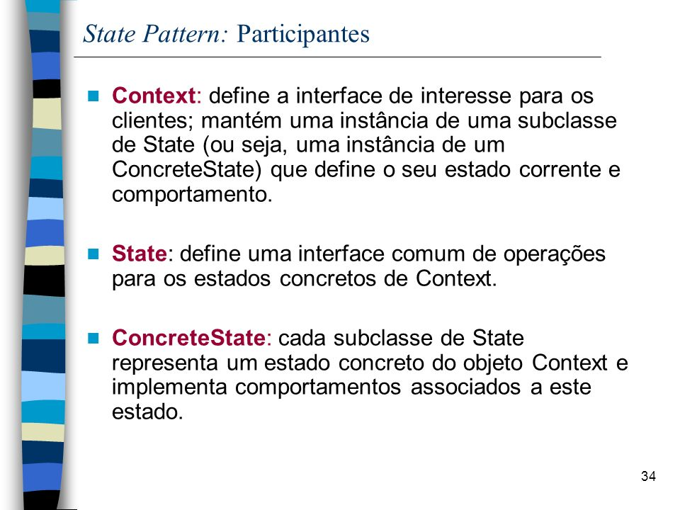 State Pattern: Participantes