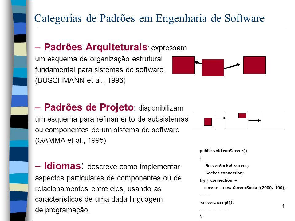 Categorias de Padrões em Engenharia de Software
