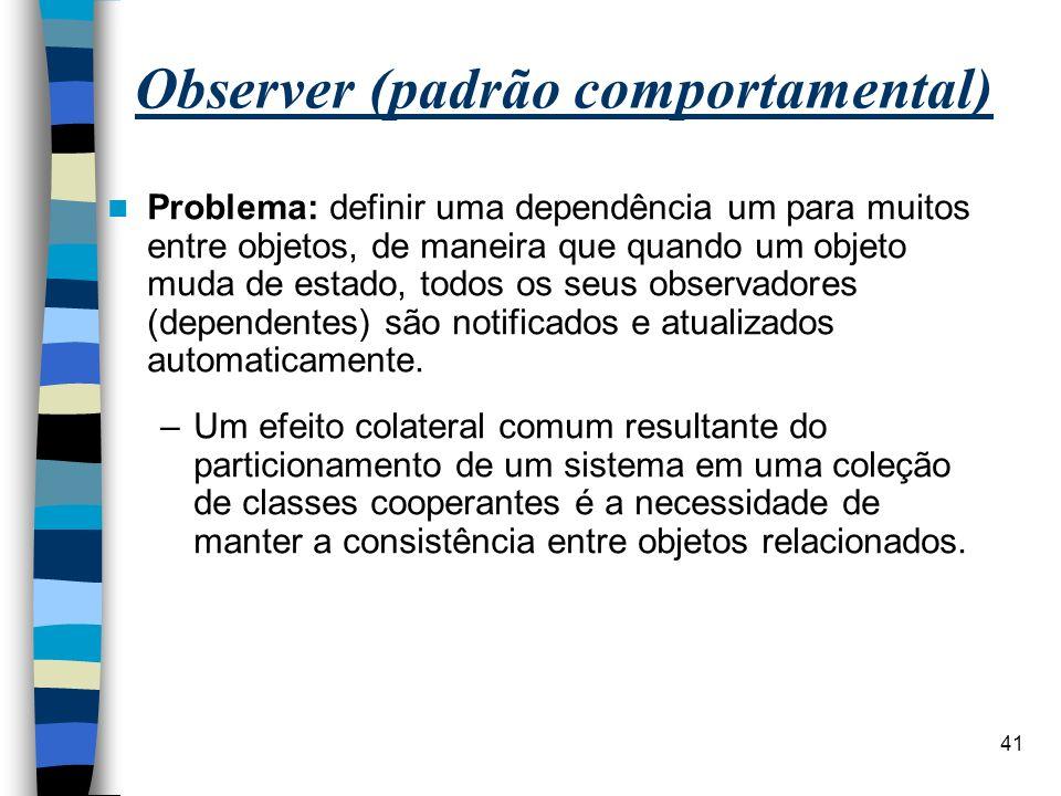 Observer (padrão comportamental)