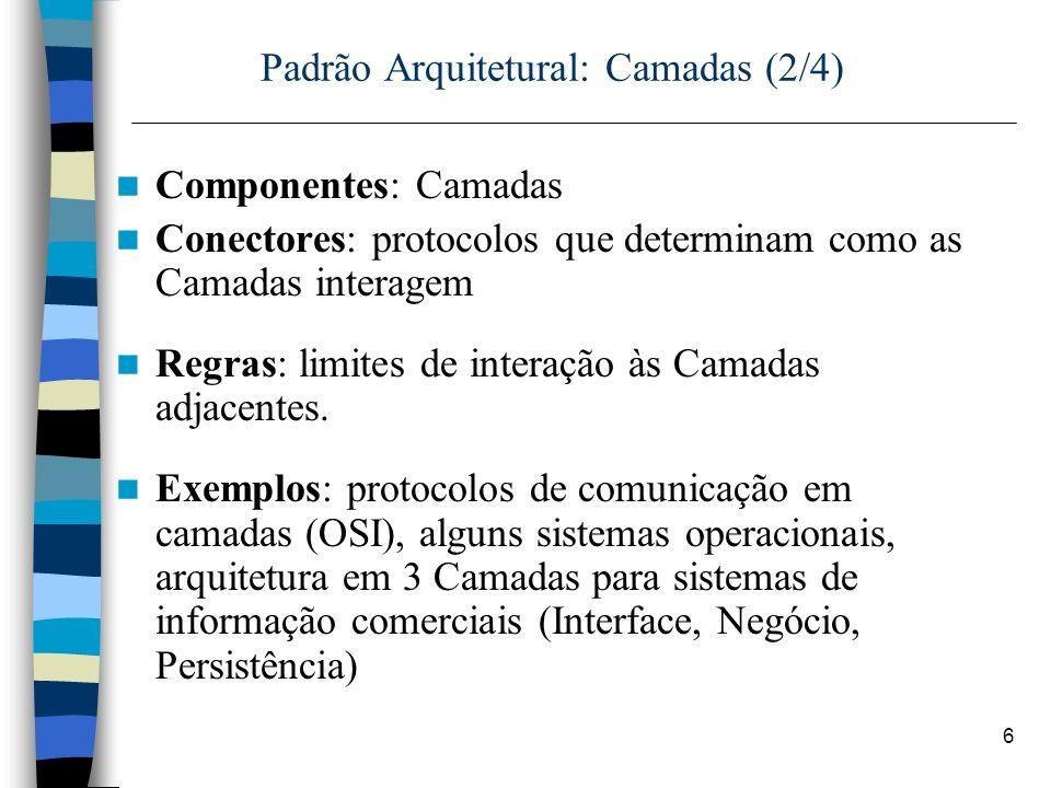 Padrão Arquitetural: Camadas (2/4)