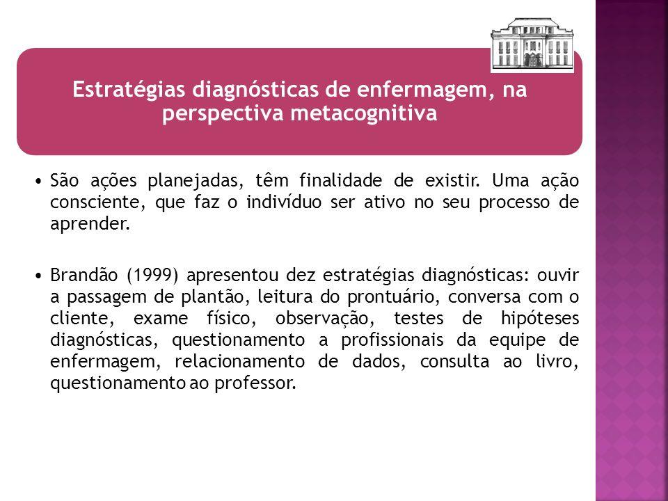 Estratégias diagnósticas de enfermagem, na perspectiva metacognitiva