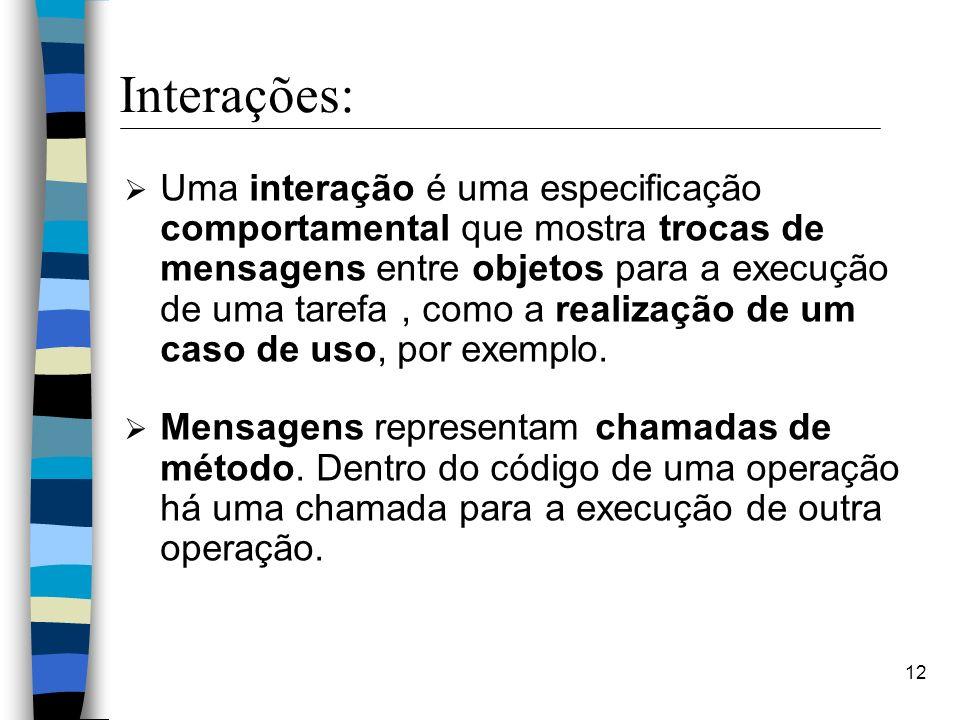 Interações: