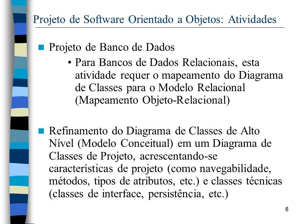Projeto de Software Orientado a Objetos: Atividades