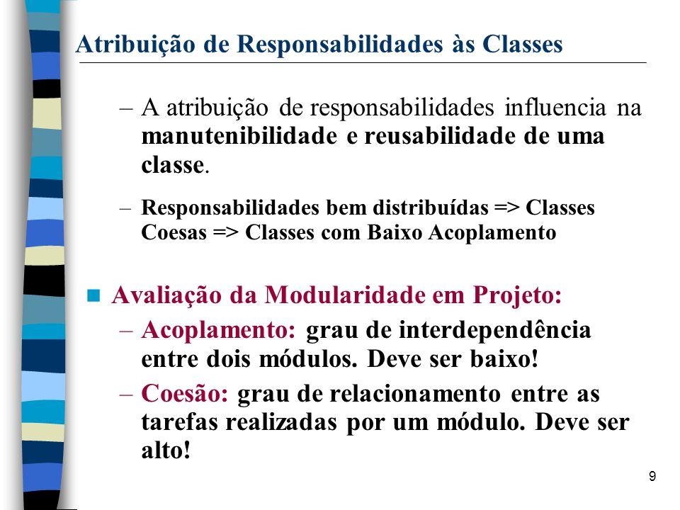 Atribuição de Responsabilidades às Classes
