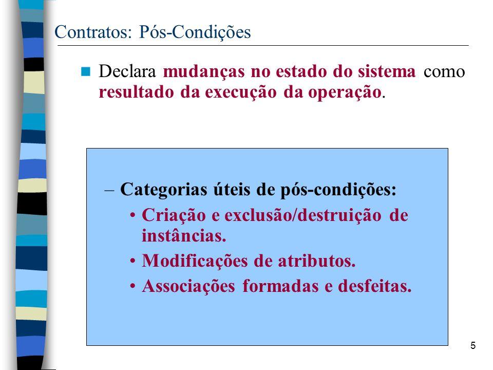 Contratos: Pós-Condições