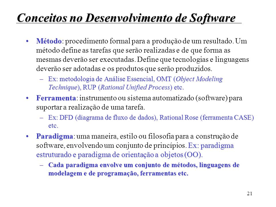 Conceitos no Desenvolvimento de Software