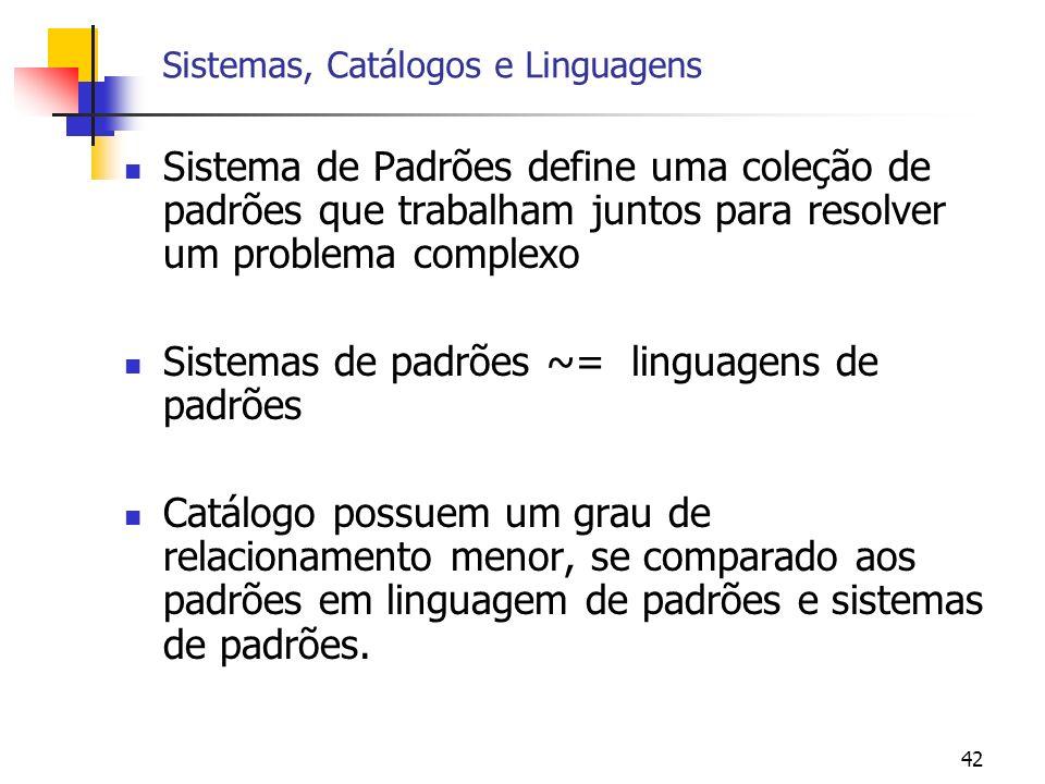 Sistemas, Catálogos e Linguagens