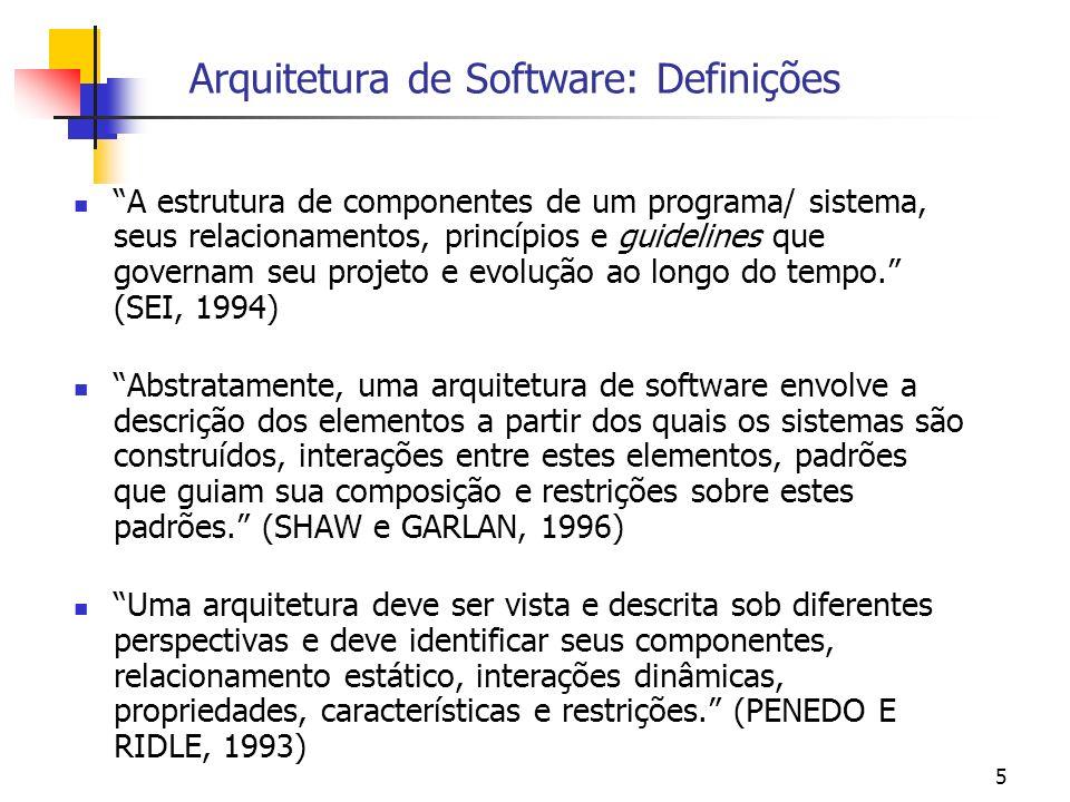 Arquitetura de Software: Definições