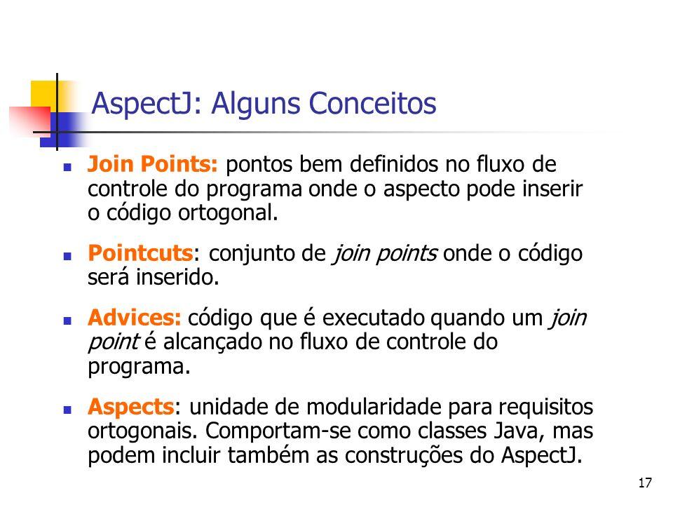 AspectJ: Alguns Conceitos