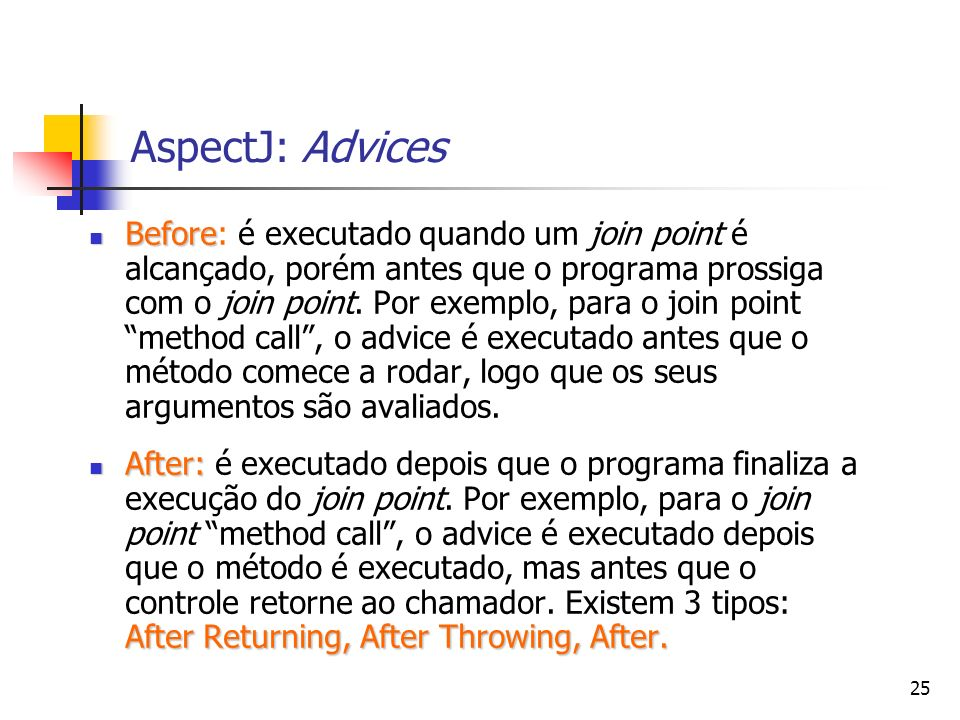 AspectJ: Advices