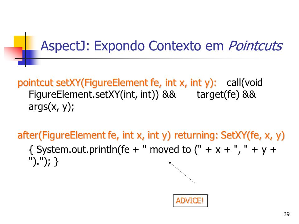 AspectJ: Expondo Contexto em Pointcuts