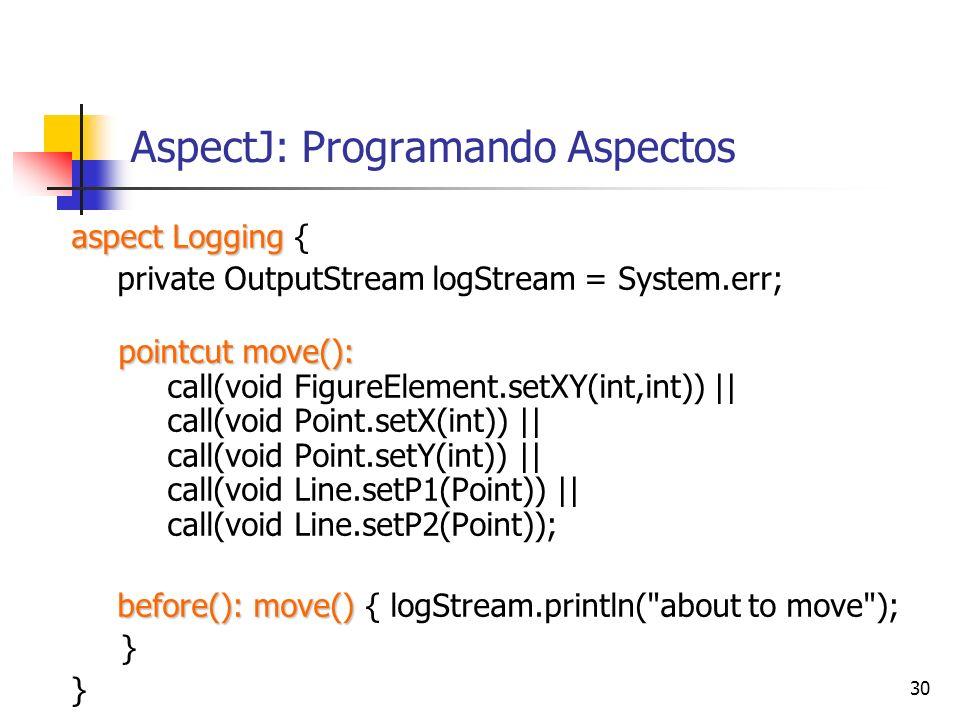 AspectJ: Programando Aspectos
