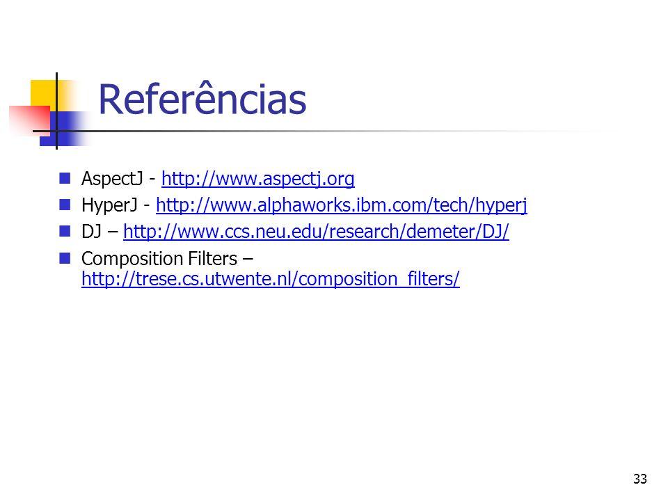 Referências AspectJ - http://www.aspectj.org