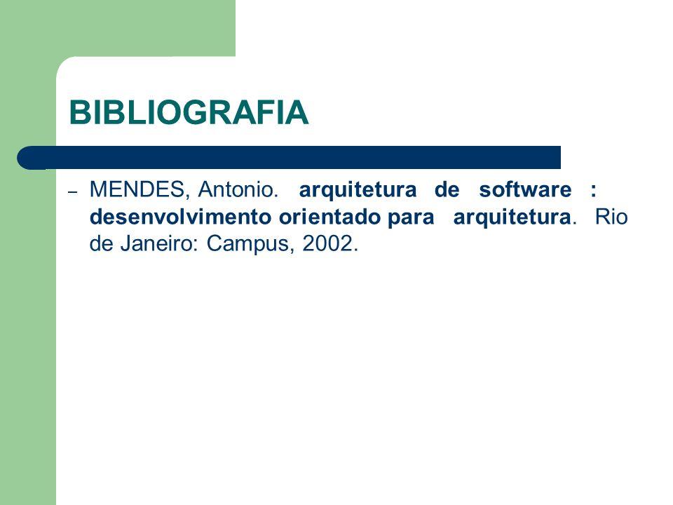 BIBLIOGRAFIA MENDES, Antonio.