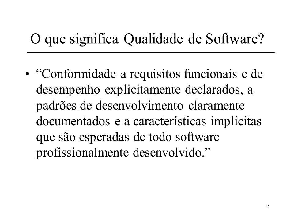 O que significa Qualidade de Software