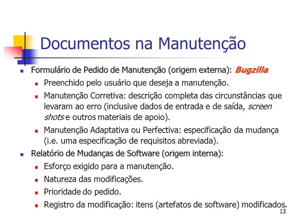 Documentos na Manutenção