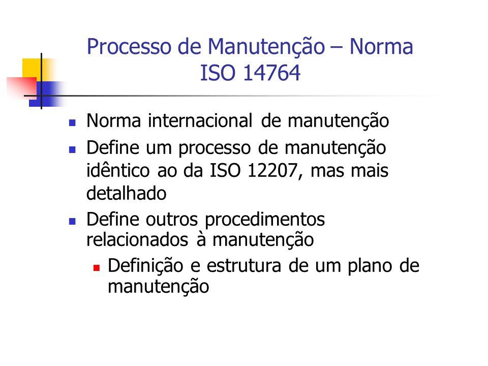 Processo de Manutenção – Norma ISO 14764