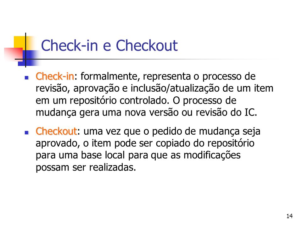 Check-in e Checkout
