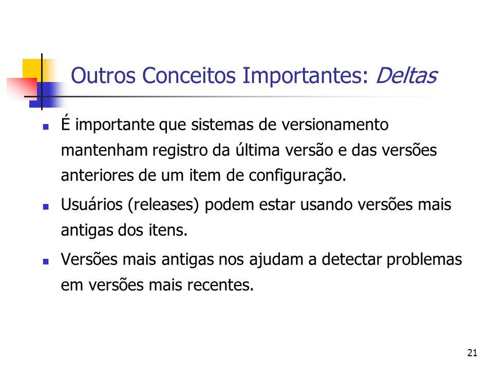 Outros Conceitos Importantes: Deltas