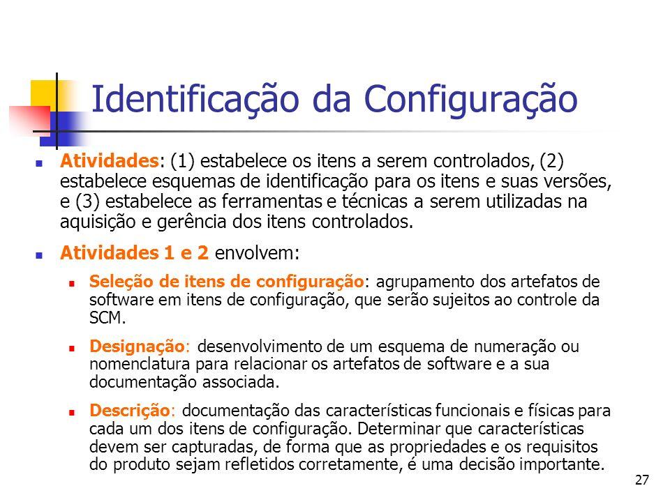 Identificação da Configuração