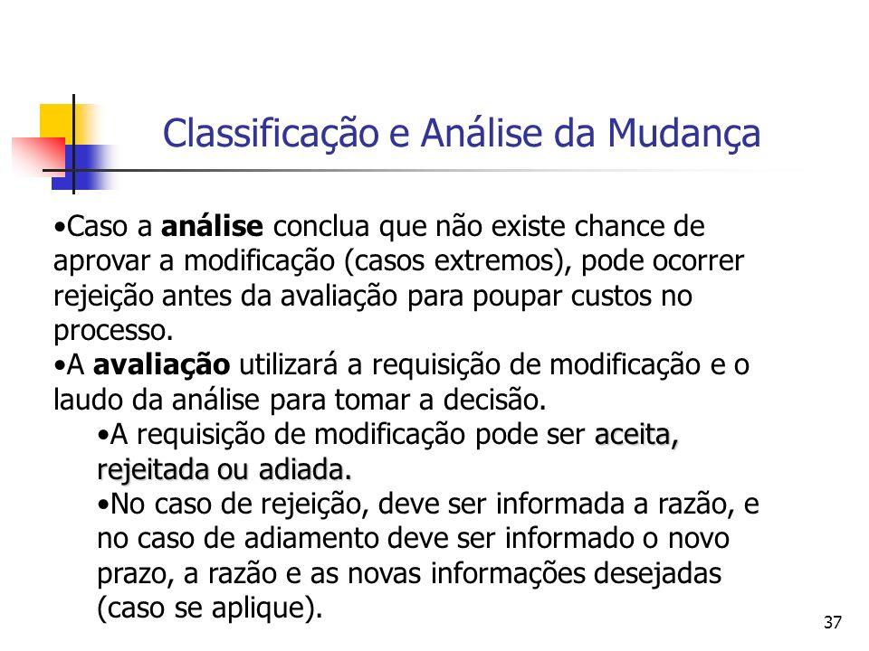 Classificação e Análise da Mudança