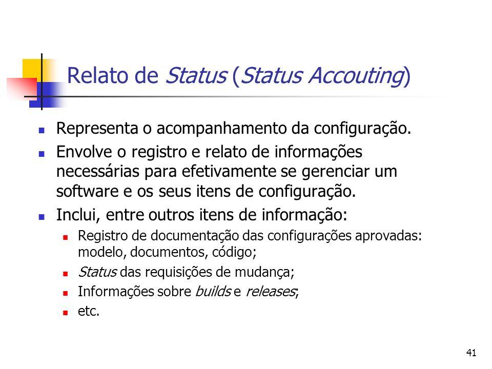 Relato de Status (Status Accouting)