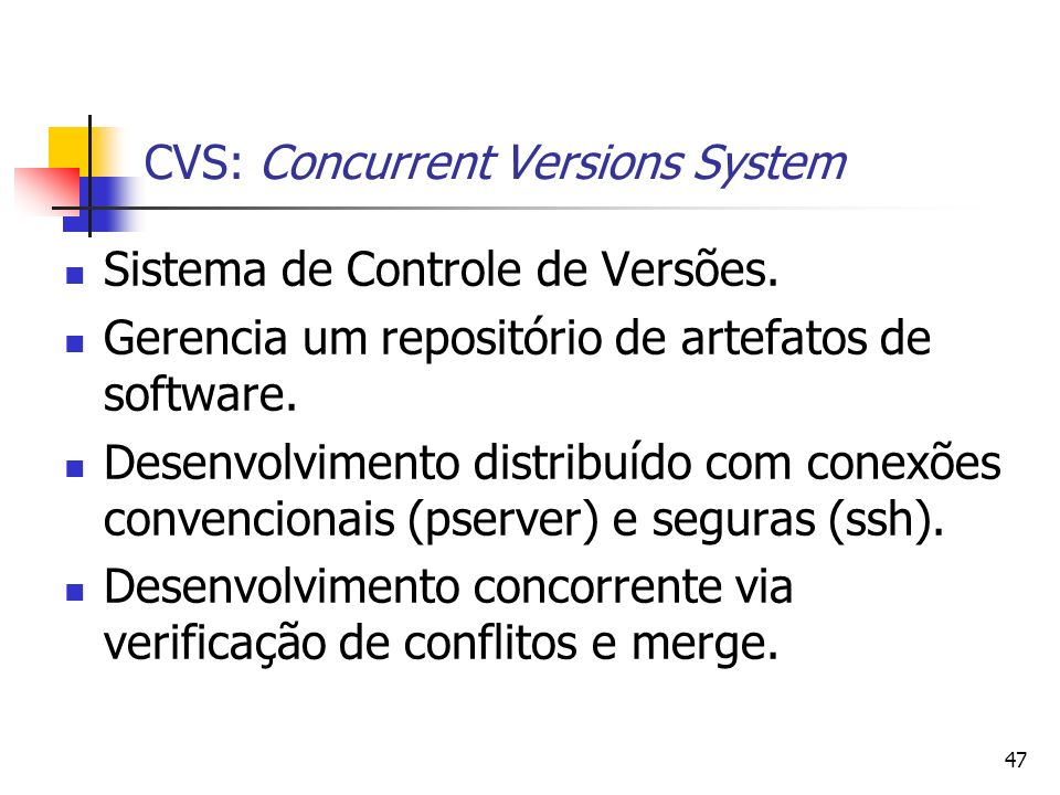 CVS: Concurrent Versions System