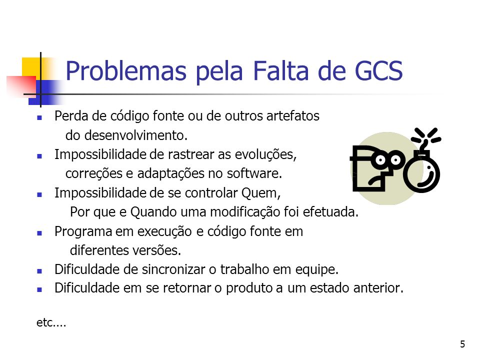 Problemas pela Falta de GCS